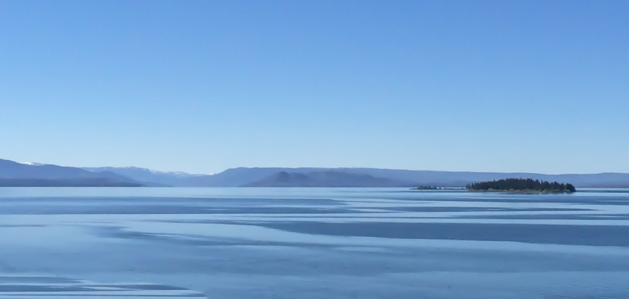 Novice Prints ~ 1st Place ~ Kate Woodward ~ Shades of Blue: Yellowstone Lake