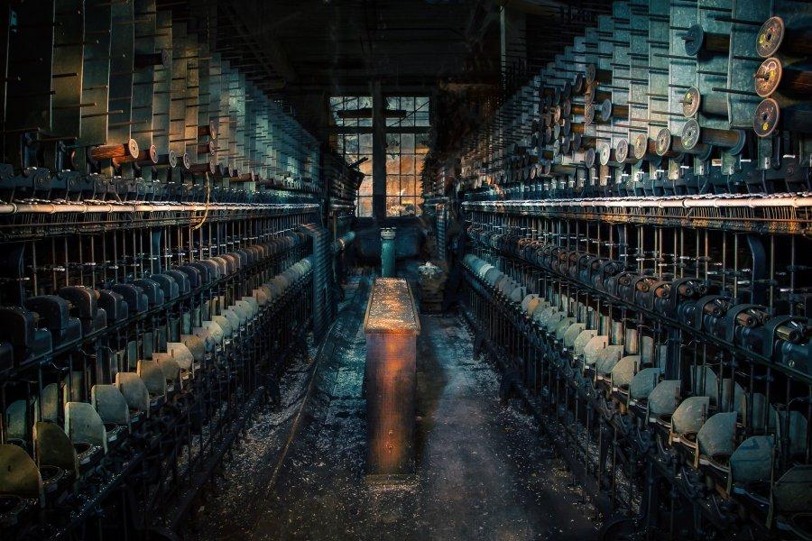 Advanced Print ~ David Terao ~ Silk Mill at Night