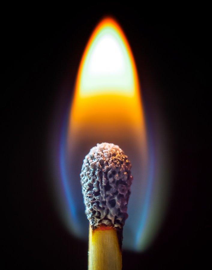 Open ~ Print ~ David Terao ~ Burning Match