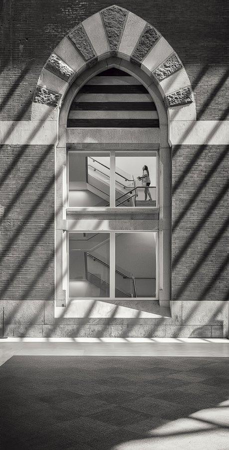 Open ~ Print ~ Oliver (Pete) Morton ~ Portrait on a Staircase