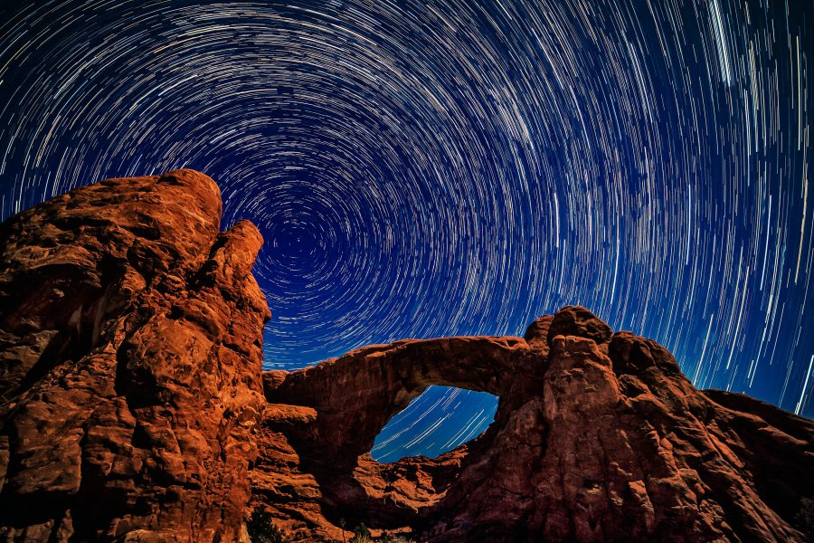 Advanced Projected ~ David Terao ~ Star Trails at the South Window Arch